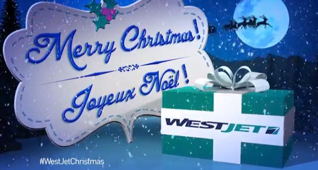 Noel 2013 par la compagnie aérienne WestJet